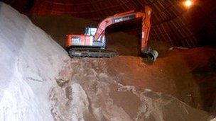 Essex County Council has stockpiled 14,000 tonnes of salt for the winter months