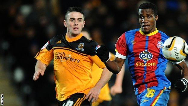 Robbie Brady and Wilfried Zaha