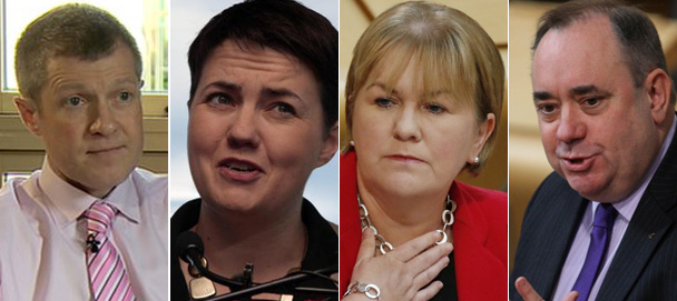 Willie Rennie, Ruth Davidson, Johann Lamont and Alex Salmond will hold talks