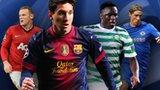 Wayne Rooney, Lionel Messi, Patrick Wanyama and Fernando Torres