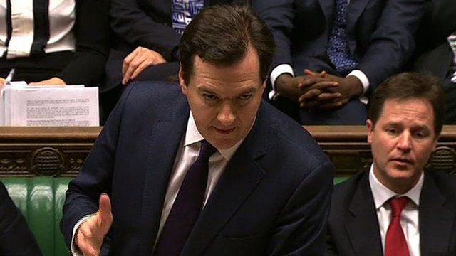 George Osborne delivering his Autumn statement