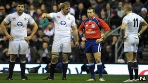 Nigel Owens (second right)