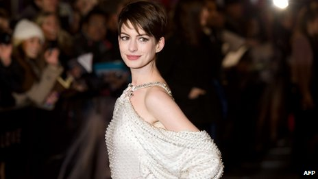 Anne Hathaway lost nearly two stones in weight and had her head shaved to portray tragic mother Fantine