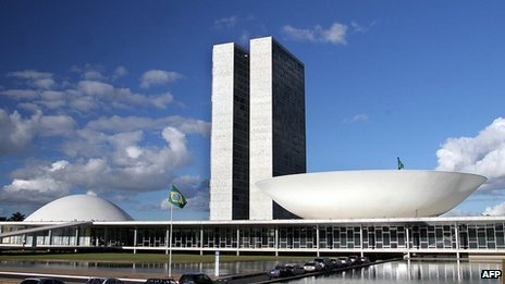 View of the Brazilian Congress in Brasilia, Brazil, on 30 May, 2005