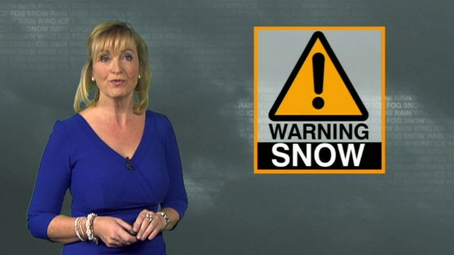 Carol Kirkwood with weather warning