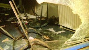 An Alliance Party office was ransacked during the trouble