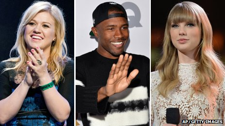 Kelly Clarkson, Frank Ocean and Taylor Swift