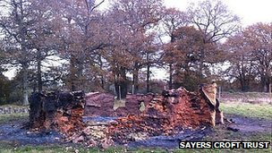 Remains of the roundhouse after the fire