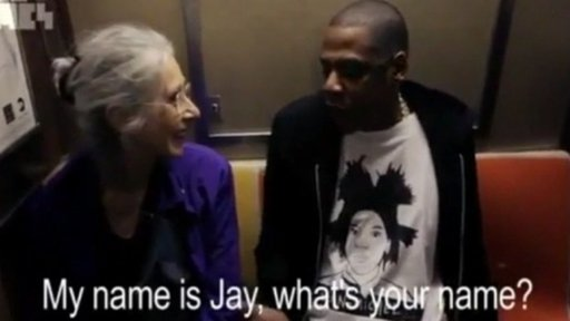 Jay-Z on the subway