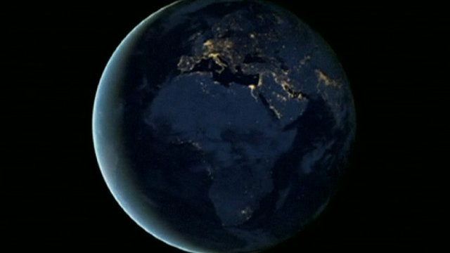 Image of the Earth at night from space
