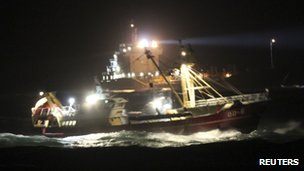Two Dutch coastguard vessels search for missing crew from the Baltic Ace