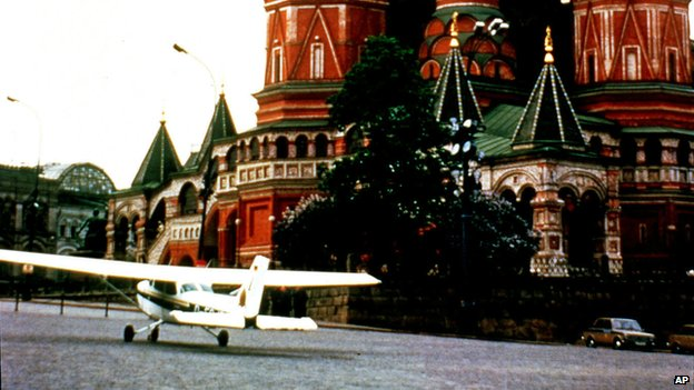 Rust's plane in Red Square