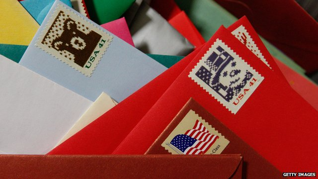 US Christmas stamps