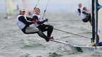 Olivia Price and James Sly of Australia compete in the 49er FX class at the Isaf Sailing World Cup event in Melbourne