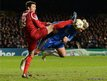 Chelsea&#039;s Fernando Torres (right) challenges FC Nordsjaelland&#039;s Michael Parkhurst during their Champions League Group E match at Stamford Bridge