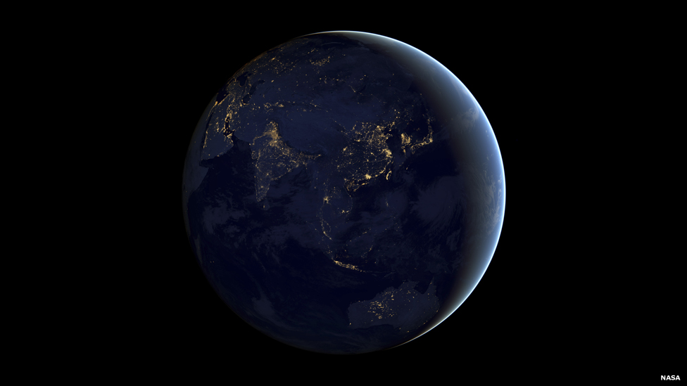 planet earth from space at night - photo #19