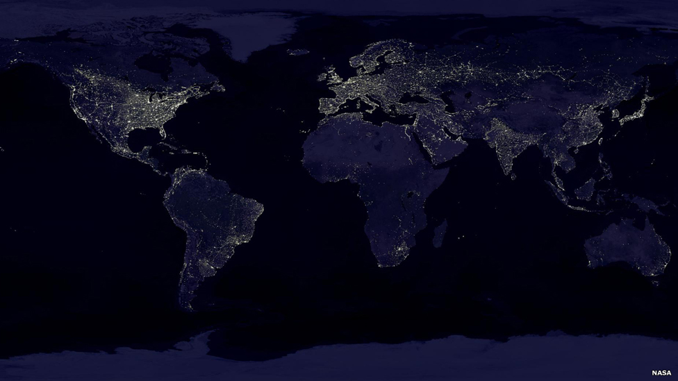 Bbc News In Pictures Planet Earth By Night
