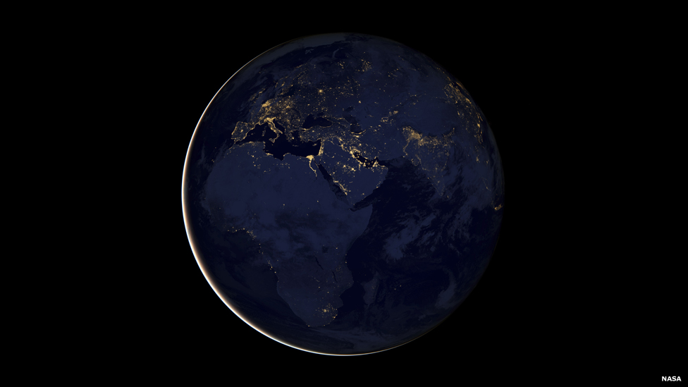 planet earth from space at night - photo #16