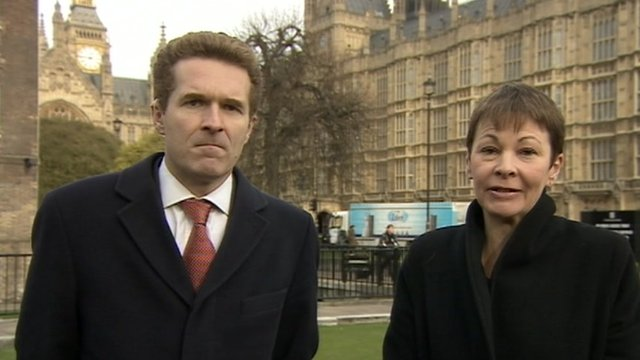 Caroline Lucas and Dan Lewis