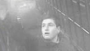 CCTV vandal at Cwmbran station