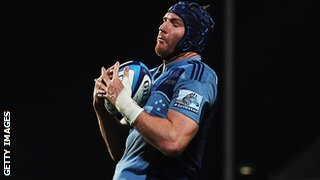 Ali Williams playing for the Blues