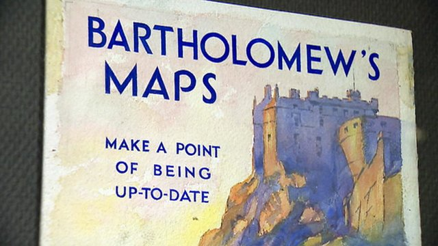 Poster for Bartholomew's maps