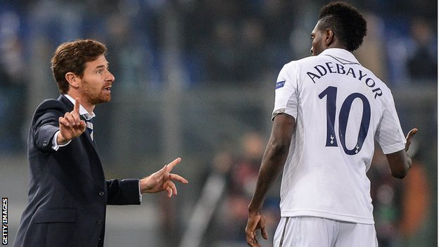 Andre Villas-Boas and Emmanuel Adebayor