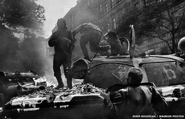 Confrontation near the Radio headquarters in Prague, August 1968