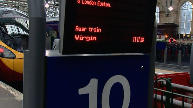 Virgin train in Central Station, Glasgow