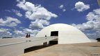 Brasilia's National Museum, work of Brazilian architect Oscar Niemeyer, inaugurated in 2007, as seen 13 December, 2007