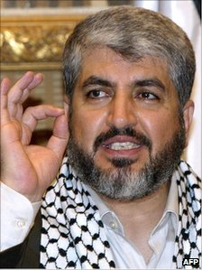 Khaled Meshaal in Damascus, 10 July 2006
