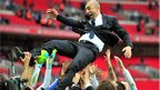 Roberto Di Matteo celebrates winning the FA Cup