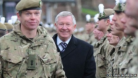Sir Alex Ferguson and The Royal Welsh