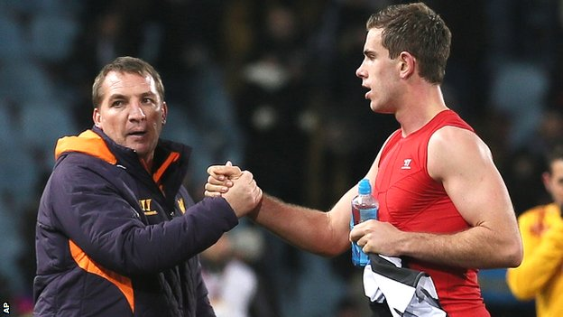 Brendan Rodgers and Jordan Henderson