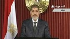 President Mohammed Morsi on Egyptian TV