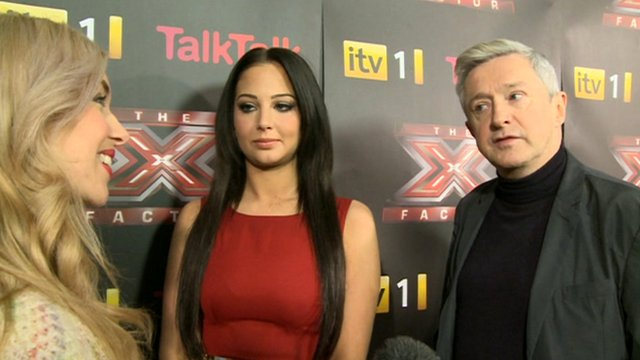 Tulisa and Louis Walsh with Hayley