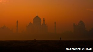 Taj Mahal photographed by Narender Kumar came sixth in the Wiki Loves Monuments online photo contest