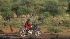 A Maasai man on a motorbike in Kenya - Friday 23 November 2012