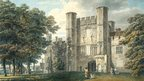Michael Angelo Rooker, A.R.A. The Gatehouse of Battle Abbey, Sussex  1792 -Pencil and watercolour on wove paper
