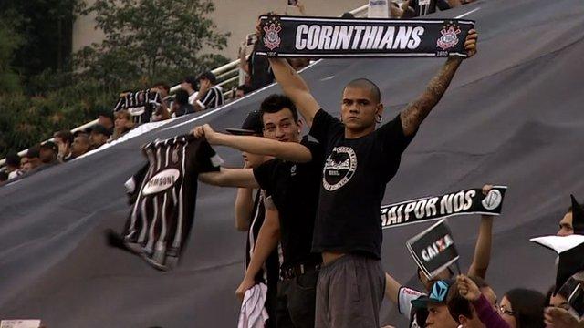 Fans of Brazilian football team Corinthians