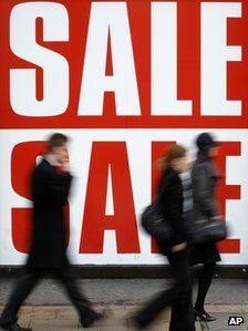 A sale sign in central London