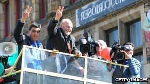 George Galloway celebrates Bradford West win