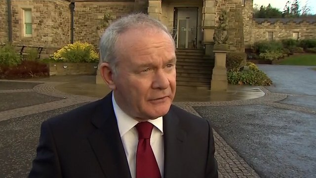 Deputy First Minister Martin McGuinness+