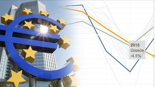 Promo for eurozone in crisis in graphics