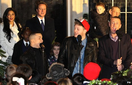The X Factor finalists at Number 10