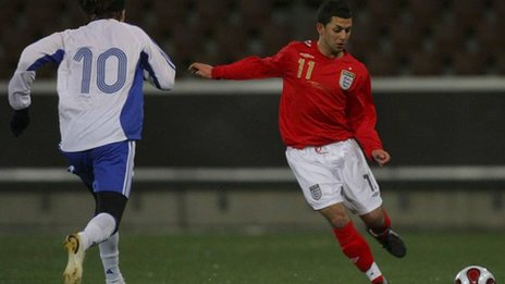 Erkan Okay playing for England