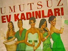 A poster for the Turkish version of Desperate Housewives