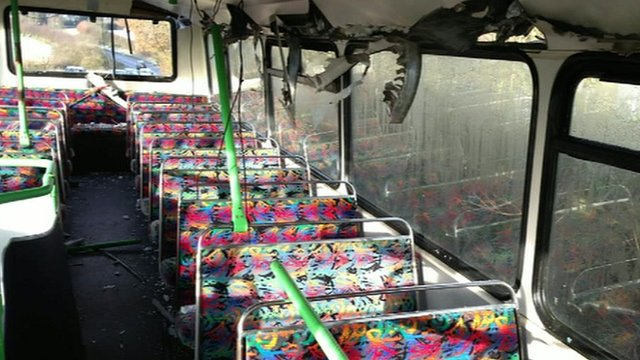 Inside view of Essex school bus
