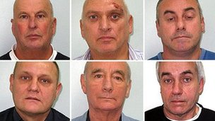 Top row (l-r): David Chatwood, John Corley, Brian Mulcahay. Bottom row: Gary Steven Cummings, Stanley Rose, David Gale
