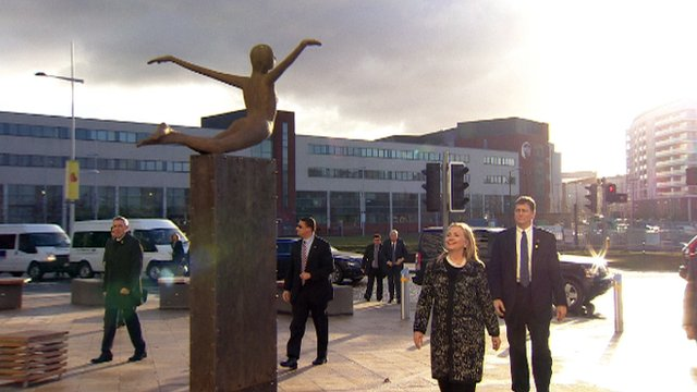 Hillary Clinton at Titanic Belfast